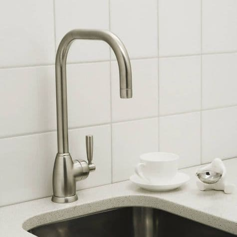 4843 Perrin & Rowe Mimas U Spout Sink Mixer Tap With Single Lever Handle